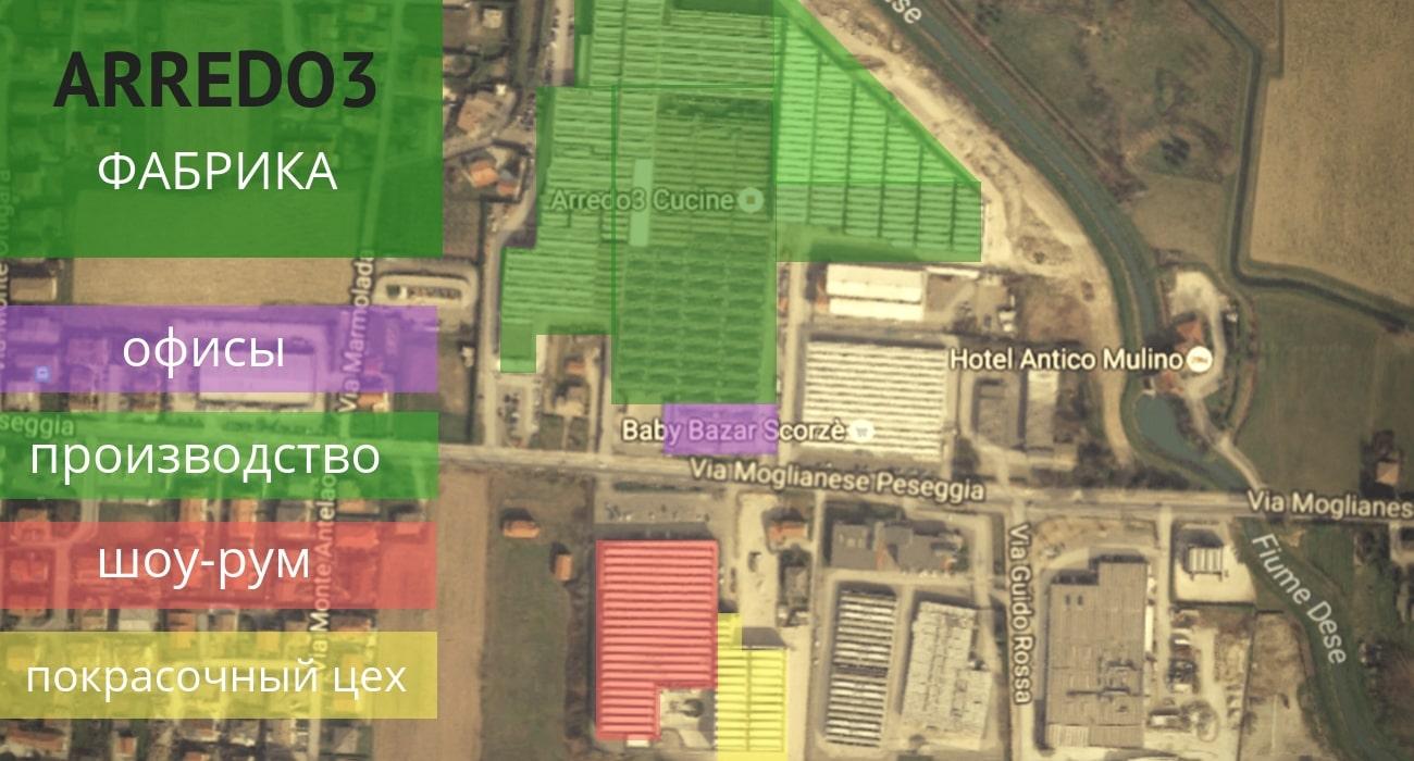 Arredo3 - структура фабрики