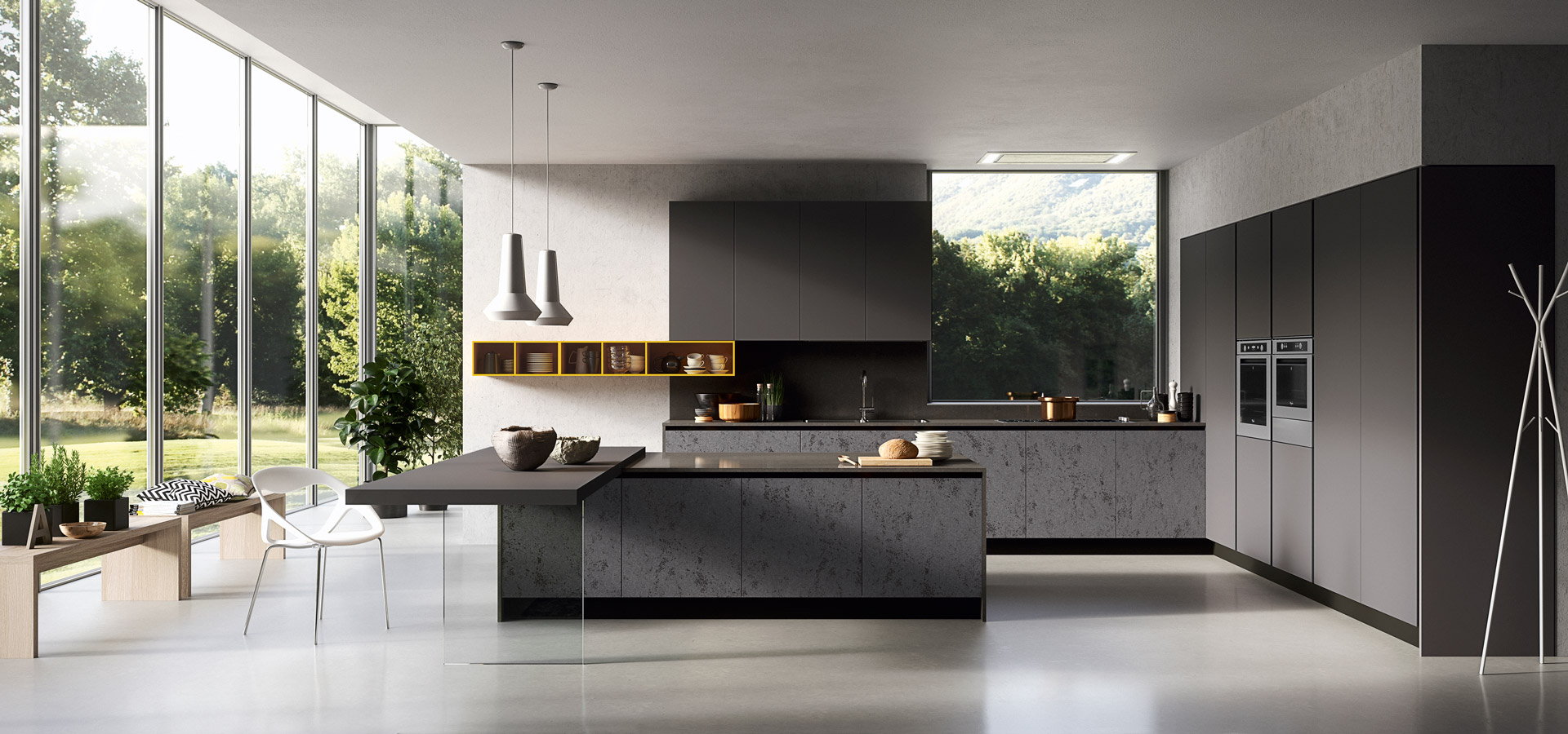 GLASS — modern kitchen | ARREDO3