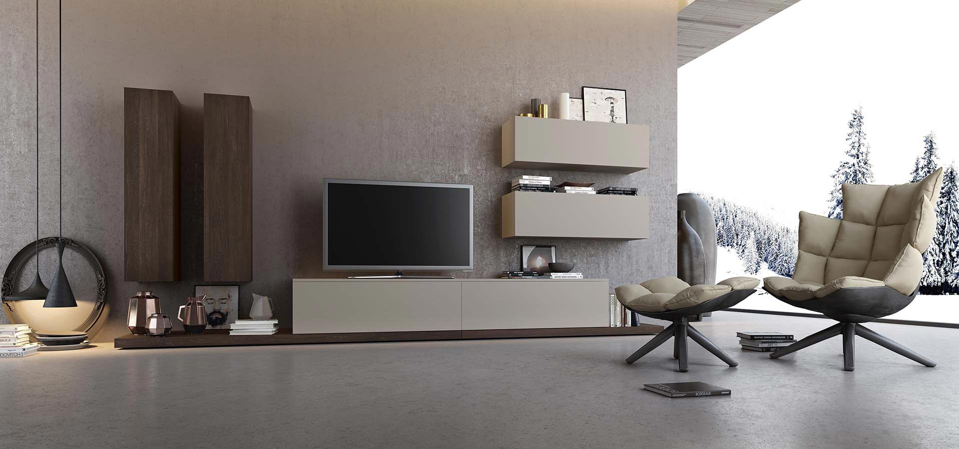 Kali 4 living room tv stand arredo3 for Living salon moderne