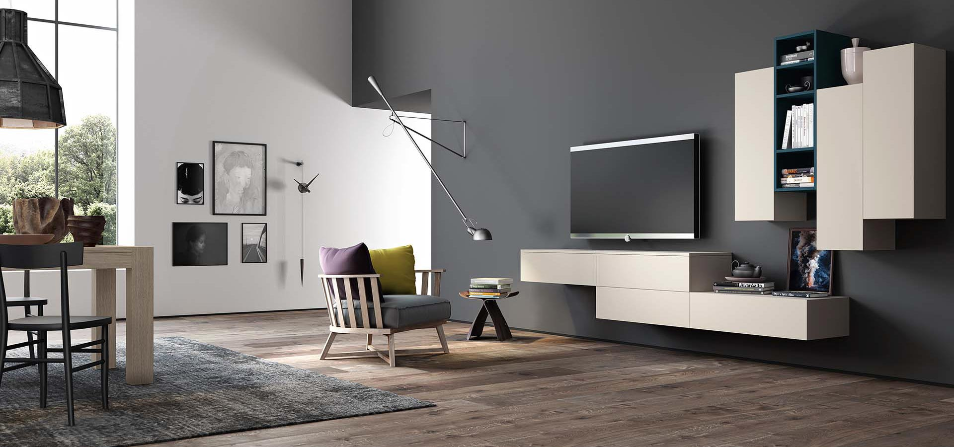 Time 13 living room tv stand arredo3 for Arredo minimal home