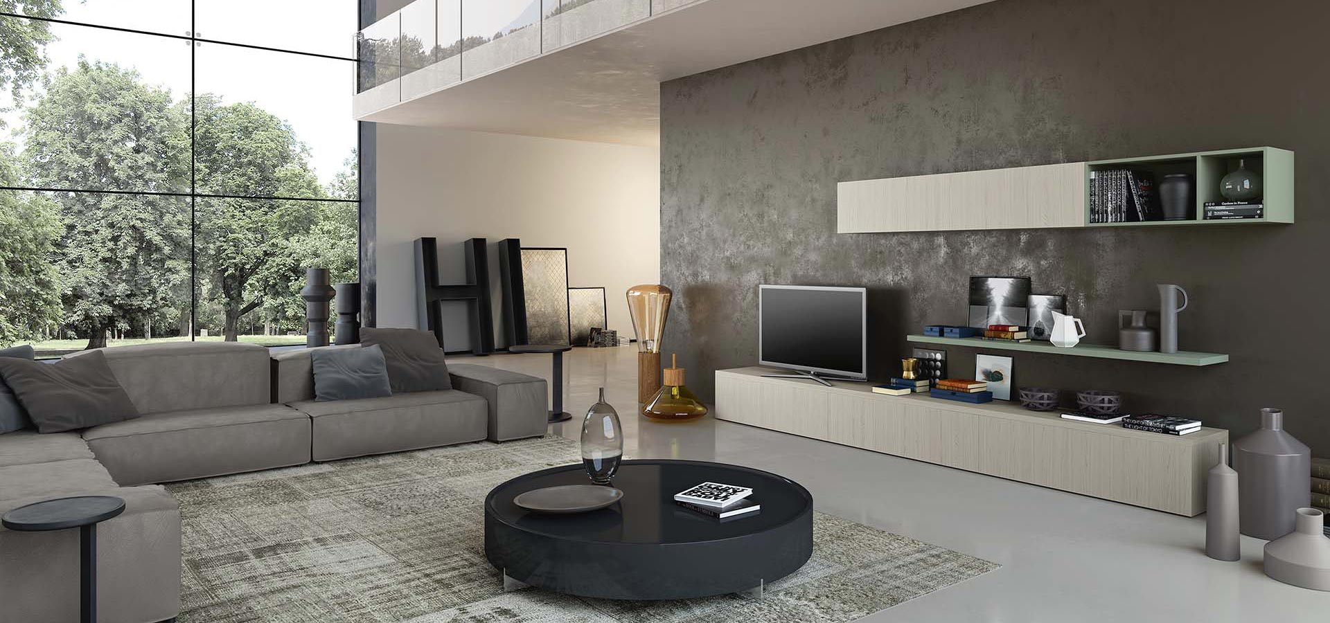 Wega 14 living room tv stand arredo3 for Muebles de living modernos