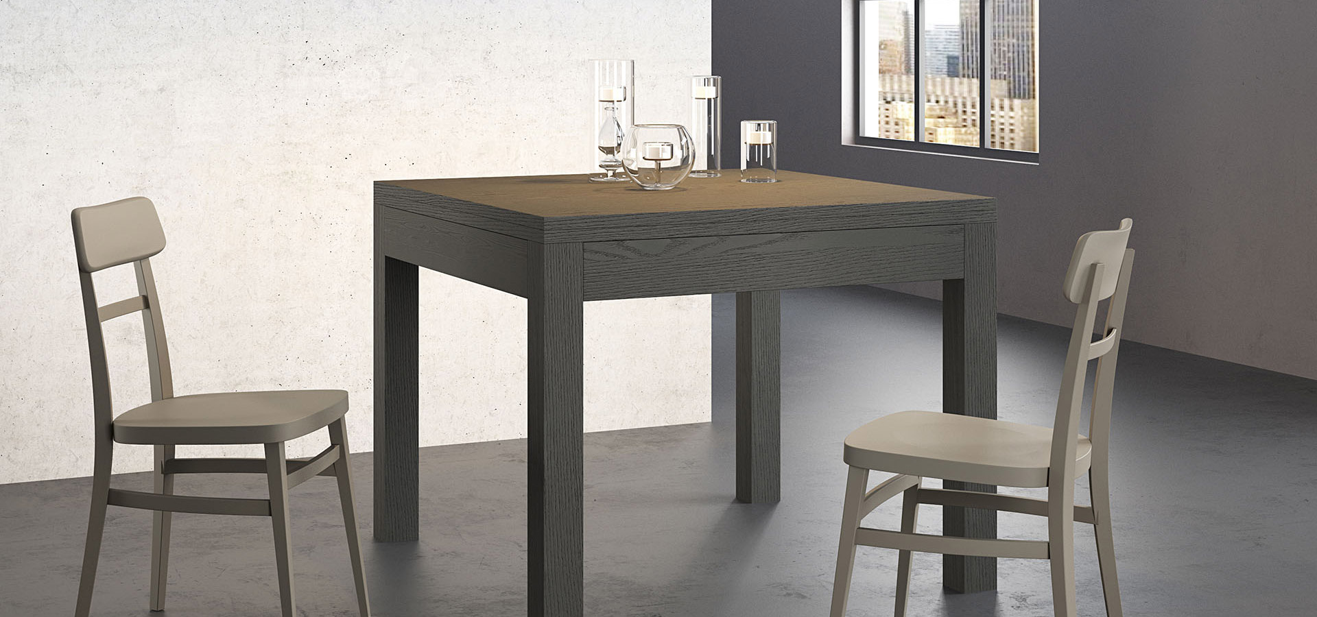 Essen tavolo dining table arredo3 for Table 90x90 conforama
