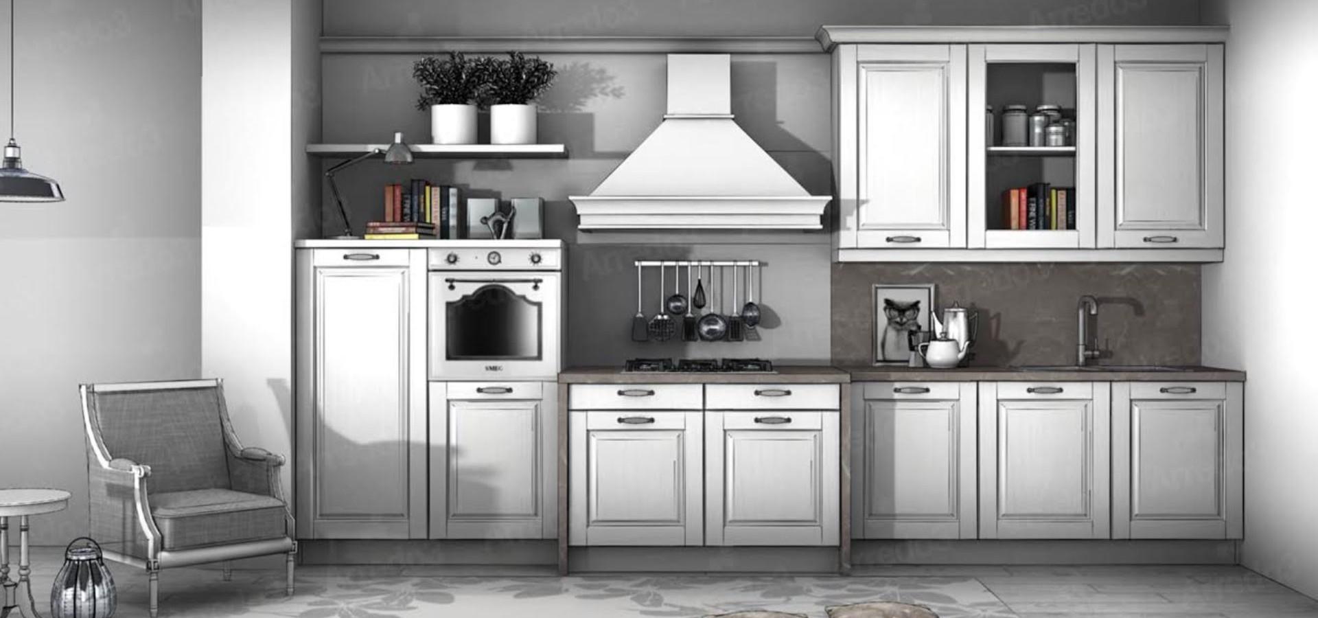 Итальянская Кухня ASOLO LC01 | Цена на Кухня ASOLO LC01 ARREDO3