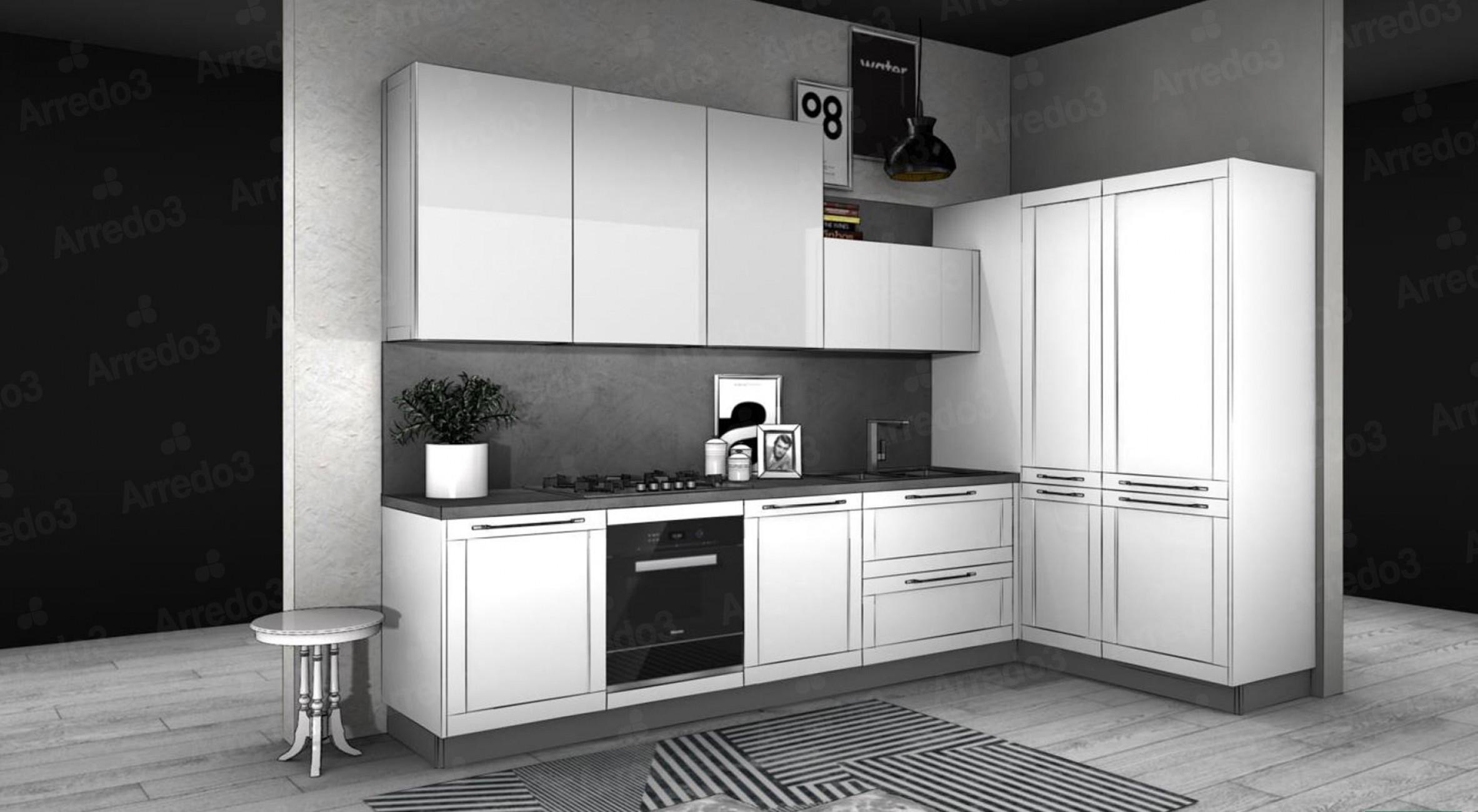 Итальянская Кухня FRAME AM07   Цена на Кухня FRAME AM07 ARREDO3