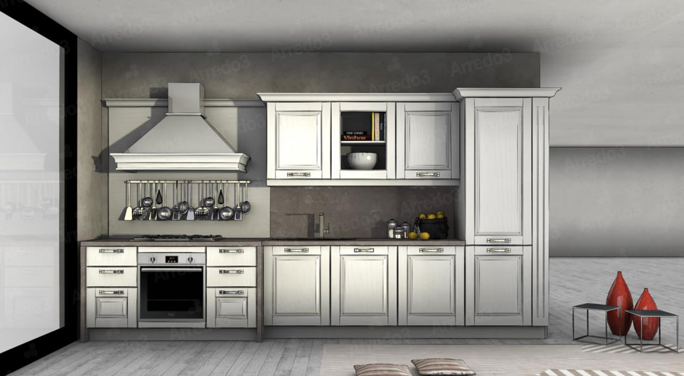 Итальянская Кухня ASOLO LC05   Цена на Кухня ASOLO LC05 ARREDO3