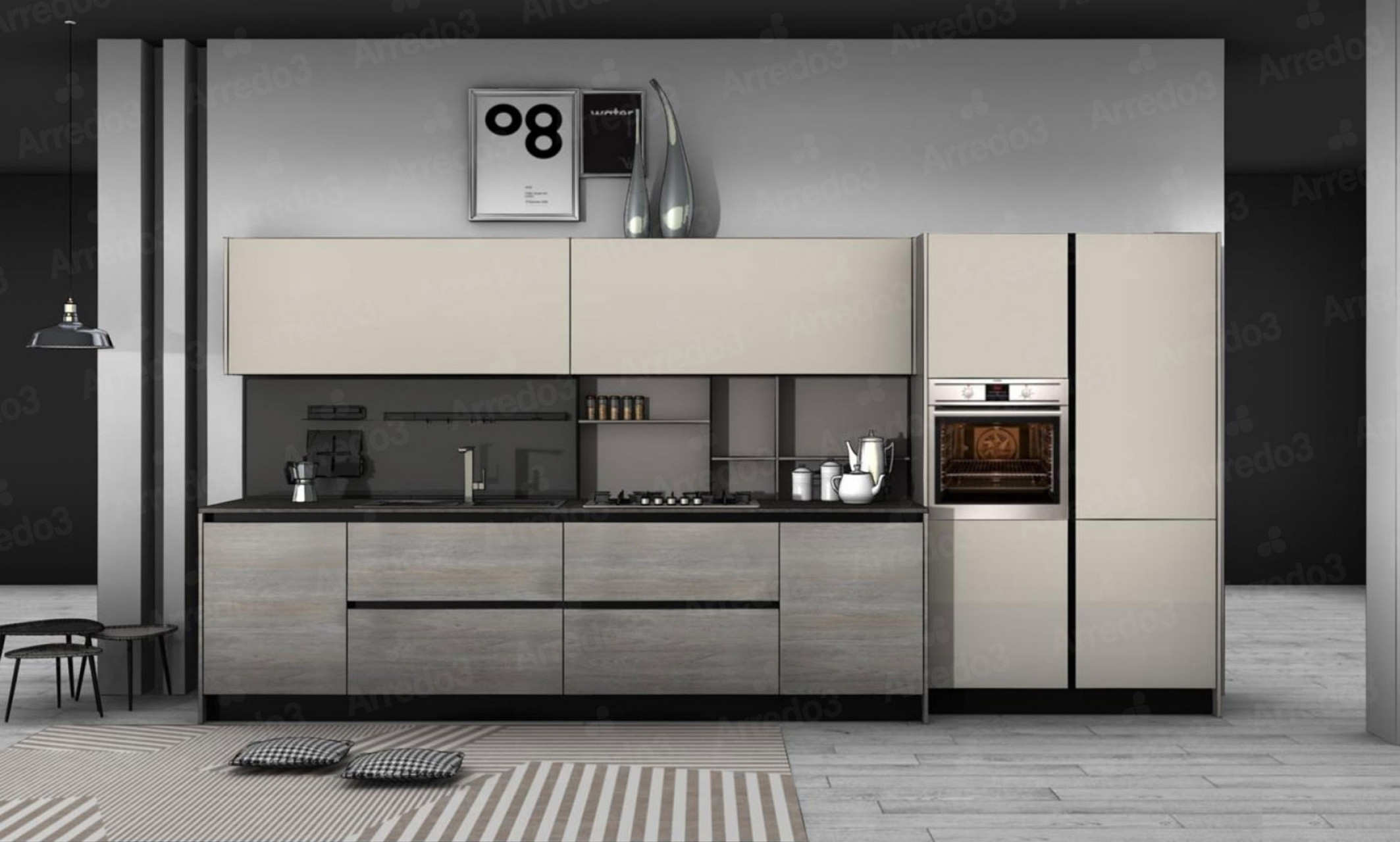 Итальянская Кухня CLOE LM20 | Цена на Кухня CLOE LM20 ARREDO3
