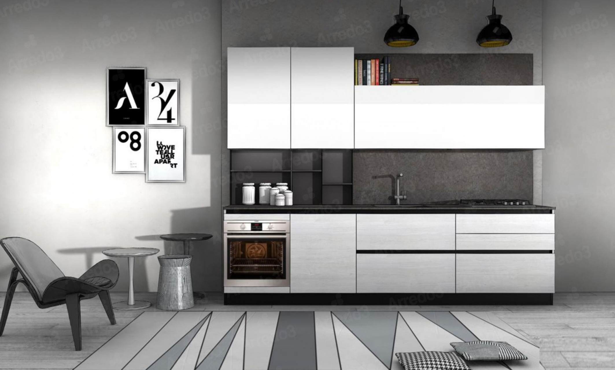 Итальянская КухняCLOE LM26 | Цена на КухняCLOE LM26 ARREDO3