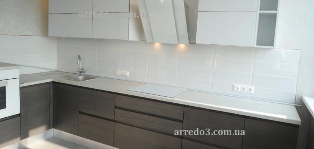Кухня Wega Grigio Glass Bianco