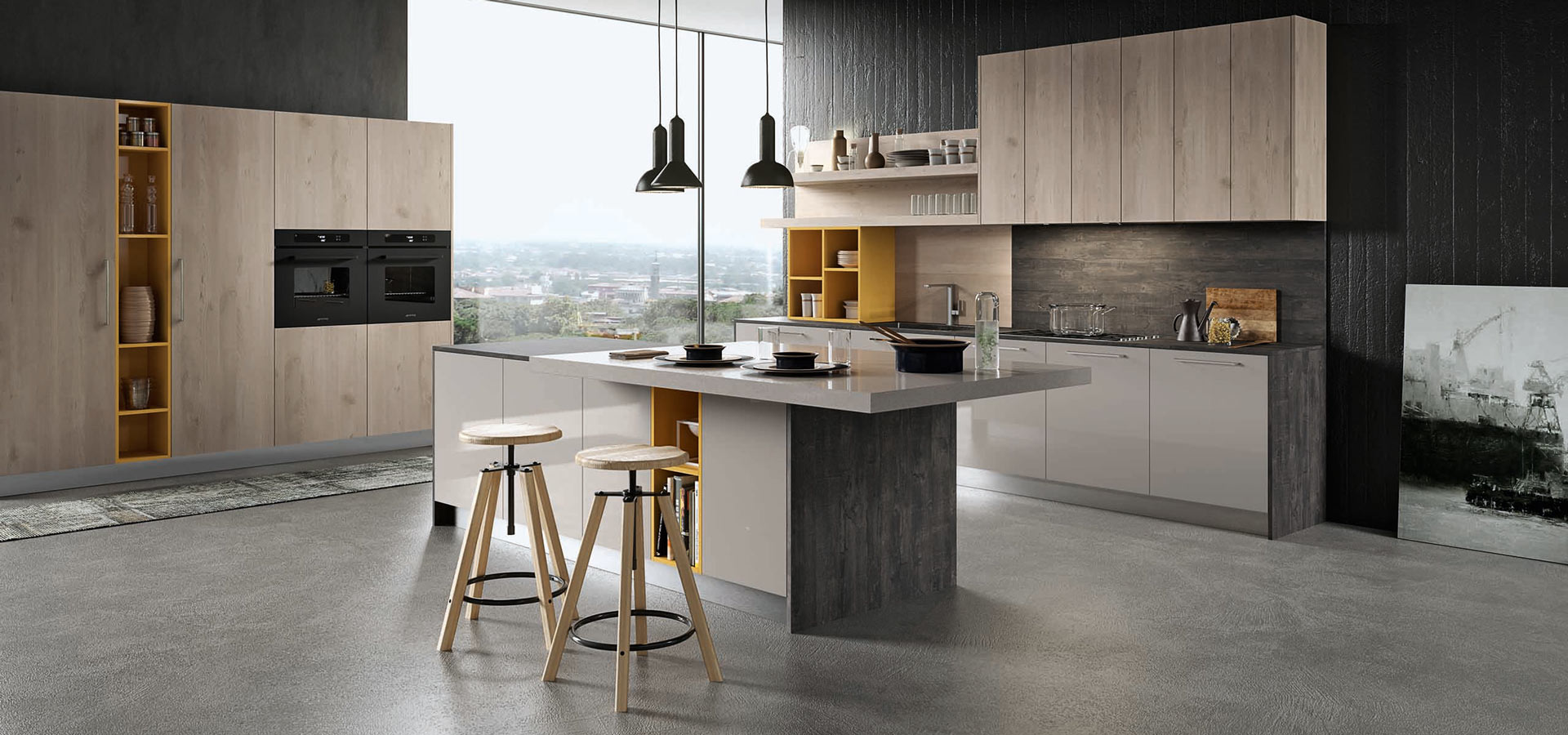 round modern kitchen arredo3