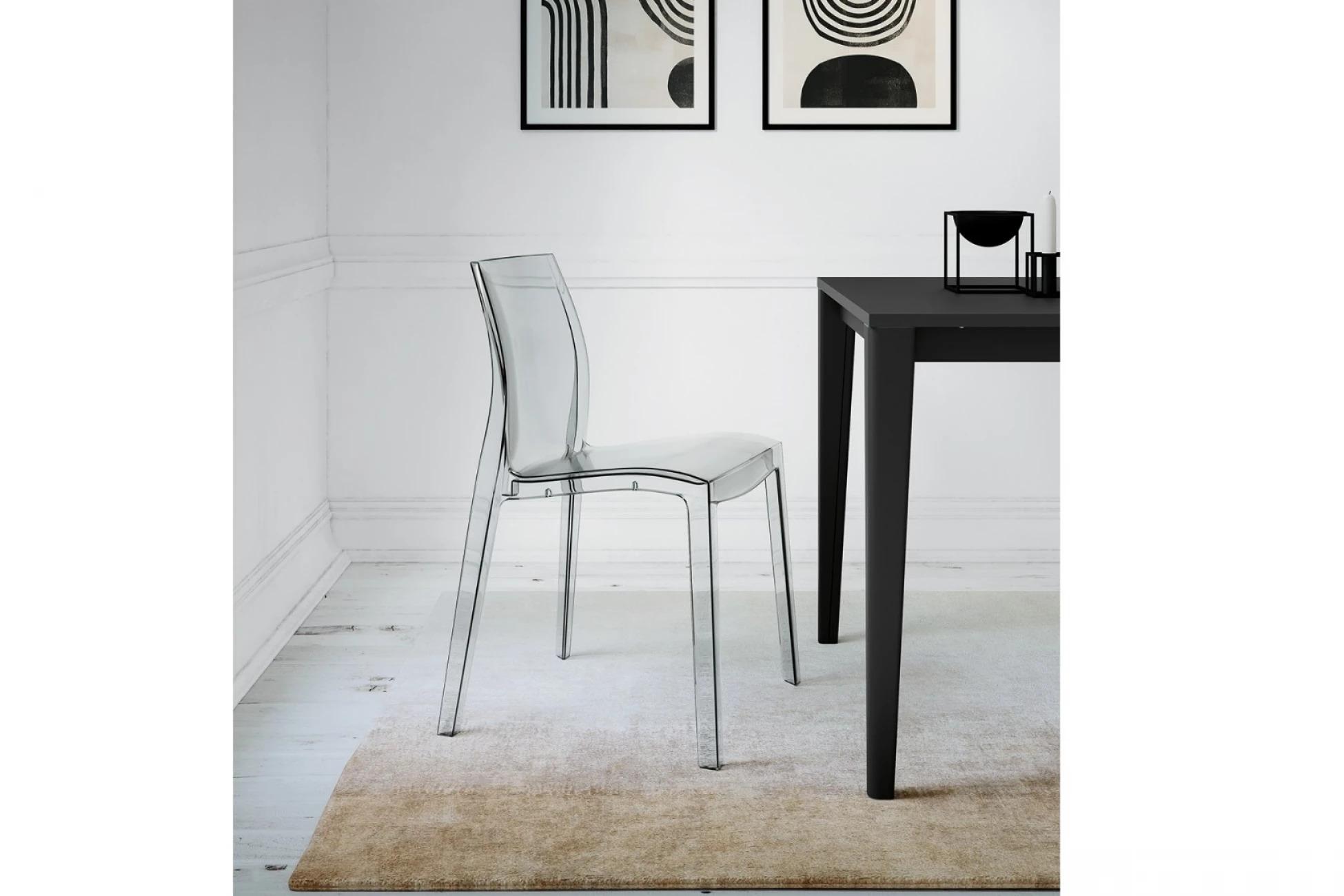 Итальянский прозрачный стул LIGHT в современном стиле от фабрики Arredo3